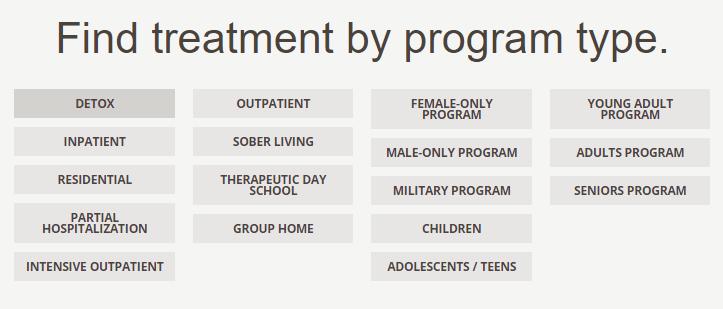 find-treatment-by-program-type