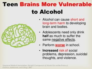 How does alcohol affect the brain?